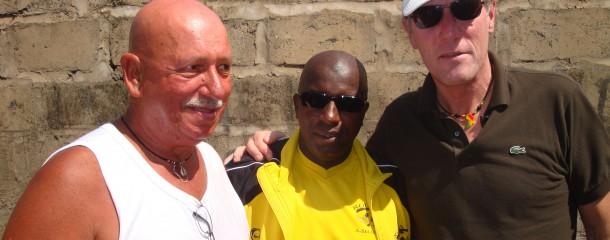 Hans van Breukelen met Jan en Sheriff
